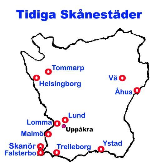 Karta Skane Och Danmark.Svensk Historia Skane